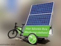 Werbung auf dem SolarSoundBike