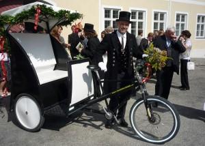 Rikscha zur Hochzeit mieten in München bei pedalhelden.de