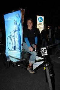 Werbebuchung auf dem  Billboard-Bike in München