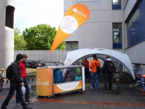 BikeWash Promotion von Hotmail in Münster