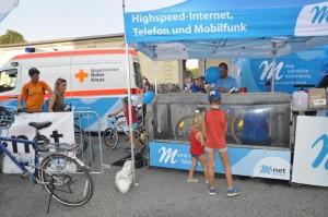 Promo-BikeWash-Aktion für M-net bei der Radlnight in München!